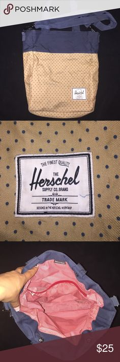 Herschel Tote Bag Herschel Tote Bag. Shows some signs of wear. Just ask for more pics and I'll gladly post. Thanks for posting by my closet. Herschel Supply Company Bags
