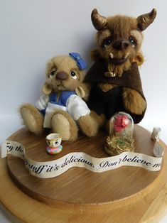Recent commission for Beauty & Tge Beast fan Teddy Bears, Beast, Fan, Toys, Sweet, Handmade, Animals, Activity Toys, Candy