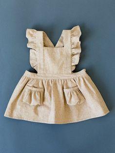 Items similar to Toddler Pinafore Dress - Toddler Dress - Vintage Girls Flaxen on Etsy Vintage Girls Dresses, Little Girl Dresses, Dress Vintage, Baby Dresses, Dress Girl, Toddler Fashion, Kids Fashion, Pinafore Dress, Toddler Dress