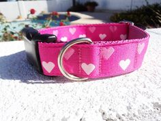 Sale Dog Collar Blurred Hearts Pink 1 Quick by fairytailcollars