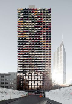 Colorful Facades: A'Beckett Apartment Tower designed by Elenberg Fraser Architects in Melbourne, Australia.