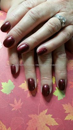 Night in Beijing red gel polish over gel nails