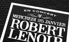Flyer pour Robert Lenoir // Agence Attribut