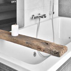 Handgemaakte houten Bad dienblad met Tablet / boek houder | badplank ...