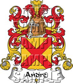 Andre Family Crest apparel, Andre Coat of Arms gifts