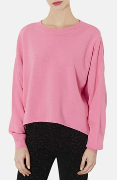 Topshop High/Low Knit Sweater available at #Nordstrom