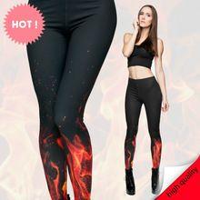New 3D print retro blaze fire black sexy women casual summer style punk rock font b