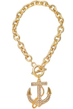 Anchors Away Bracelet - Gold FUn and affordable statement jewelry on this site!