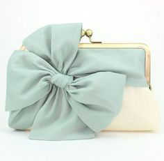 Wedding Clutch / Mint Clutch / Bridesmaid Gift