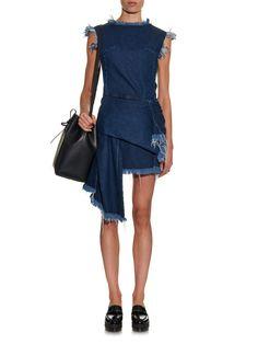 Frayed asymmetric denim dress   Marques'Almeida   MATCHESFASHION.COM UK