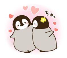 よっしー(@penchandappe)さん | Twitter Penguin Pictures, Cute Animal Pictures, Penguin Love, Cute Penguins, Cute Drawings, Animal Drawings, Pinguin Drawing, Tumbler Drawings, Cute Kawaii Animals