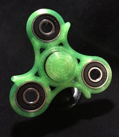 EDC Fidget Spinner- Finger Spinner-Hybrid Ceramic Bearing- Transparent Green V2 #FusedMatter