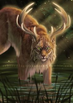 forest guardian by Atan Cute Fantasy Creatures, Forest Creatures, Mythical Creatures Art, Mythological Creatures, Magical Creatures, Mystical Creatures Drawings, Foto Fantasy, Dark Fantasy Art, Fantasy Artwork