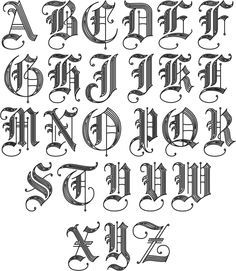 Image result for old english letters
