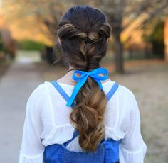 Belle Ponytail | Beauty & The Beast | Cute Girls Hairstyles