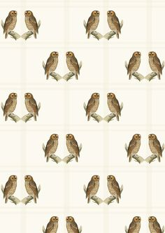FREE printable vintage owl pattern paper ^^ #woodland