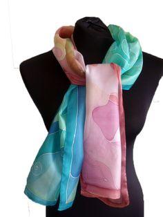 Kézzel festett selyem sálak, kendők - ideális ajándék nőknek - áldás selyemsálak: http://silkyway.hu/aldas-selyemsalak.html