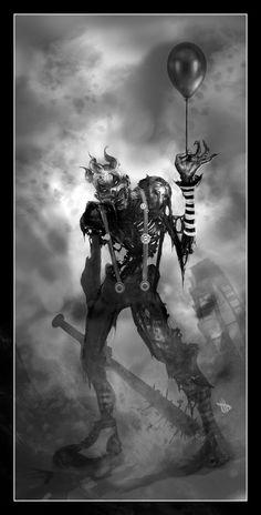 zombie clowns | Zombie Clown by Dave-Wilkins