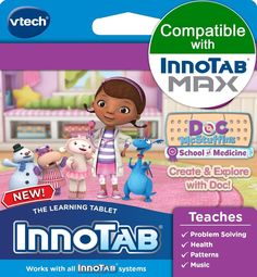 Disney's Doc McStuffins VTech InnoTab Software Create and Explore Kids Games #VTech #DisneysDocMcStuffinsCreateandExplore