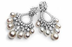 Stunning chandeliers by Farah Khan Fine Jewelry.
