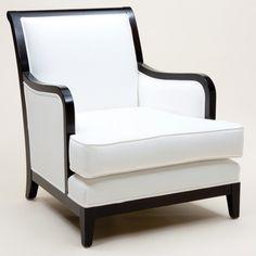 Sleek Sleigh Armchair