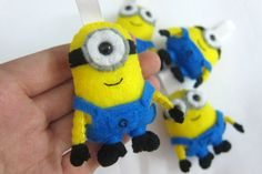 Minion Despicable Me  Keychain/Ornament/Magnet/Plush by araleling, $15.00