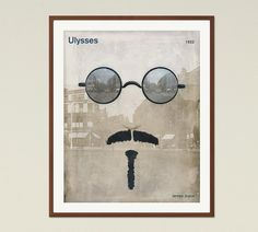 Ulysses James Joyce  Literary poster literary by RedHillPrintables