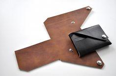 Handmade foldable leather wallet by Lemur – Fubiz™