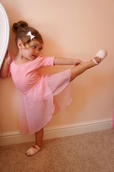 My beautiful little ballerina! Amazing lines and only three years old!