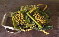 """Купить Флорентийское саше """"Мимоза"""" - зеленый, ароматическое саше, флорентийское саше, ароматное саше"""
