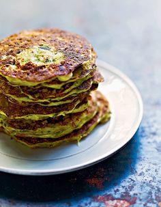 Pancakes de courgettes et ricotta a la menthe