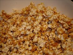 "Peanut Butter Popcorn: ""Sometimes I use honey and/or maple syrup instead of corn syrup for a change in flavor. If you want a fast snack, try this!"" -mosscom"