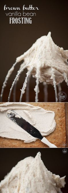 Brown Butter Vanilla Bean Frosting is possibly the most rich, delicious, and flavorful icing you can make to top your favorite cookies and cakes.