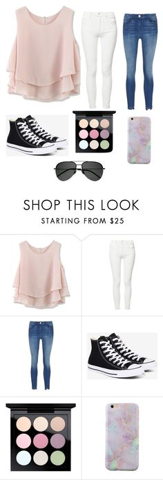 """Pastels"" by rawesome101 ❤ liked on Polyvore featuring Chicwish, Mother, Converse, MAC Cosmetics and Yves Saint Laurent"