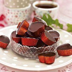 Chokladtryfflar som smälter i munnen och har lite vuxensmak tack vare whiskyn.