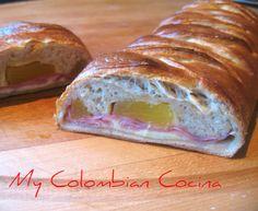 Pan Hawaino or Hawaiian Bread. Colombian Desserts, My Colombian Recipes, Colombian Cuisine, Bread Recipes, Cooking Recipes, Yummy Recipes, Good Food, Yummy Food, Bread Cake
