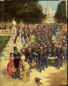 La Musique de la Garde républicaine au Luxembourg (1887)Gustave Boutet