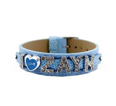 1d Crystal Slider Letter Wristband Bracelet - I Love Zayn - List price: $39.99 Price: $9.99