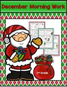 Common Core Math and Language Arts Daily Practice for Second Grade (December) Christmas Math Worksheets, Common Core Math, Morning Work, Fun Math, Math Centers, Math Lessons, Second Grade, Language Arts, Classroom