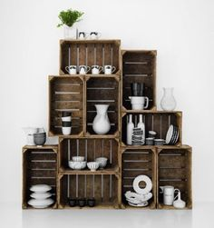 crates and dishes