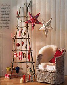 Escalera artesanal de Navidad