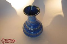 Blue Spiral Vase by MudbugCreations on Etsy, $15.00