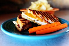 Chicken Bacon Ranch Panini - PW    For all its simplicity, this panini really turned into something yummy! And if you don't have a panini maker, don't fret! Just grill the sandwich in the skillet with a second (heavy) skillet on top of it to press it together. It'll make you feel inventive and nifty.