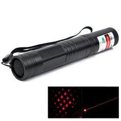 4mw+650nm+Red+Beam+Flashlight+Adjustable+Focus+Laser+Pointer+&+5+Laser+Light+Patterns