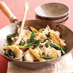 Speedy fish and sweet soy stir-fry