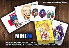 draw your photo into my chibi or fanart anime by mihi_24