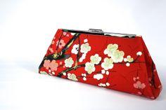 Red frame Clutch -  Clutch Purse - Wedding Clutch - Bridesmaid Clutch Bag - Bridesmaid Gift - Evening Bag - Frame Clutch