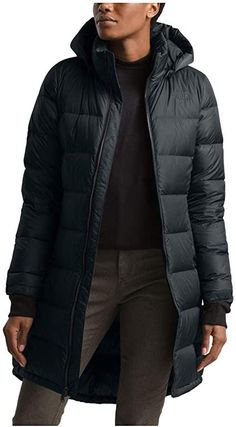 This parka coat is equipped with subtle and cozy features like fleece-lined pockets to quickly warm cold hands. The parka goes down to the knees without being too heavy or constricting. The front zipper closure stops just above the knee, while a button at the bottom of the parka helps keep the cold air out and trap the warmth. Hooded Parka, Parka Coat, Down Parka, Down Coat, North Face Women, The North Face, North Faces, Winter Must Haves, Warm Down
