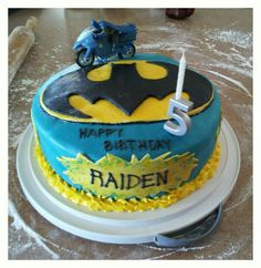Batman Birthday Cake  - Batman Birthday Cake.  Made this cake for my son's 5th bday.  Made with marshmallow fondant.
