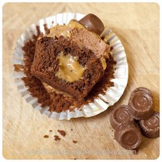 Caramel filled Rolo Brownie Cupcakes